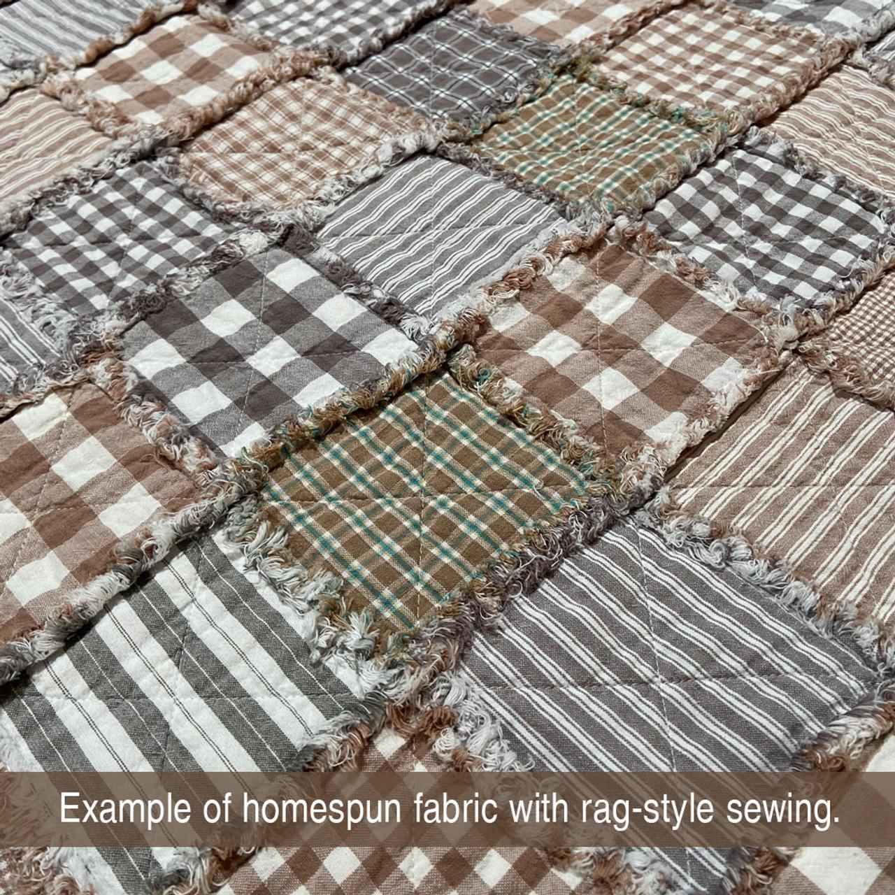 40 Whitewash Neutral Homespun 6 inch Quilt Squares
