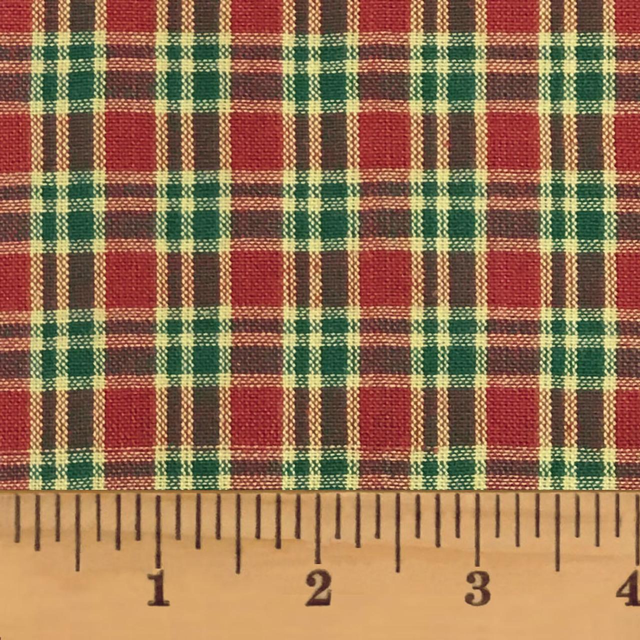Cranberry Christmas 4 Plaid Homespun Cotton Fabric