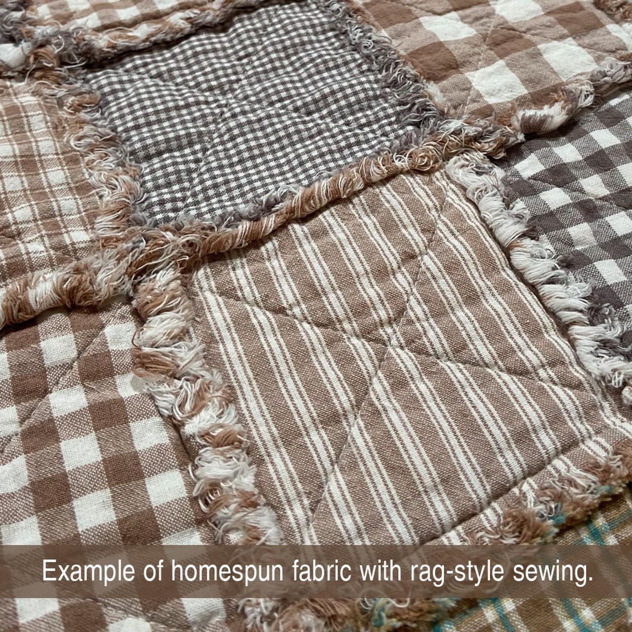 Whitewash Ragged Homespun Quilt Kit