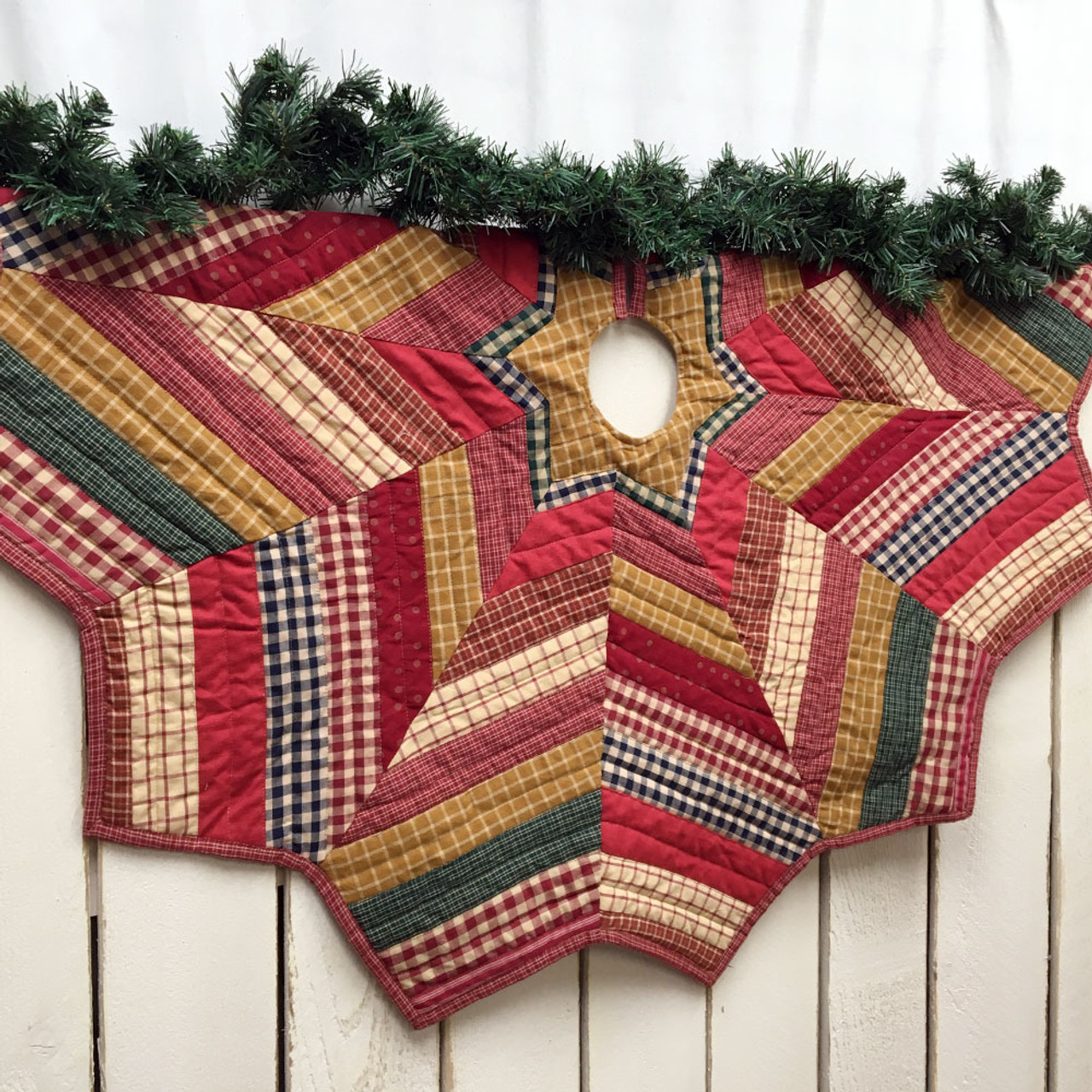 48 Quilted Homespun Plaid Christmas Tree Skirt Jubilee Fabric,Rudolph The Red Nosed Reindeer The Movie Dvd