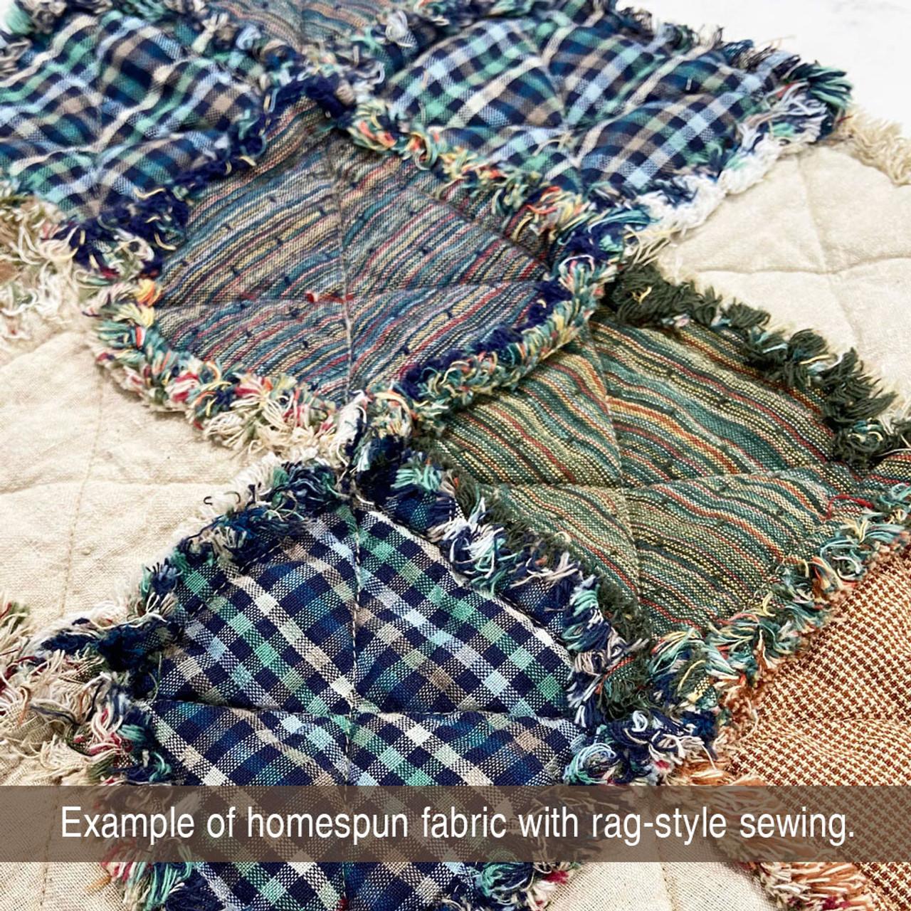 Levi Blue Plaid Homespun Cotton Fabric