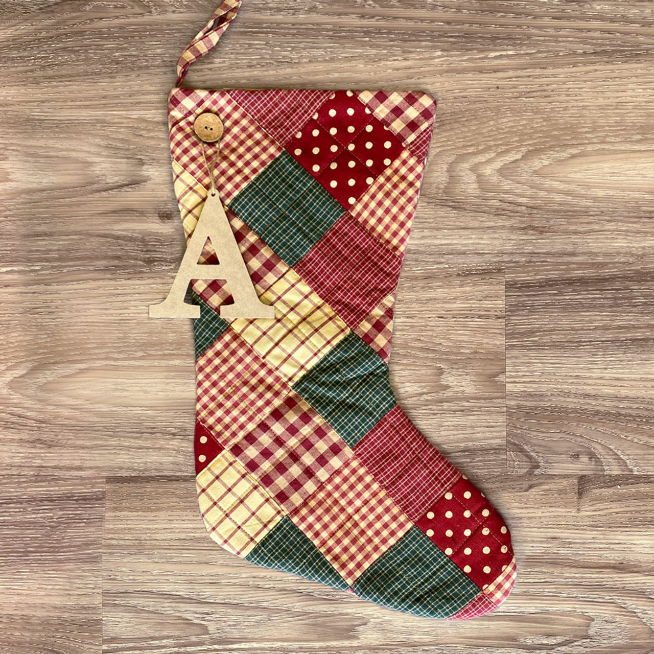 Quilted Christmas Stocking personalized