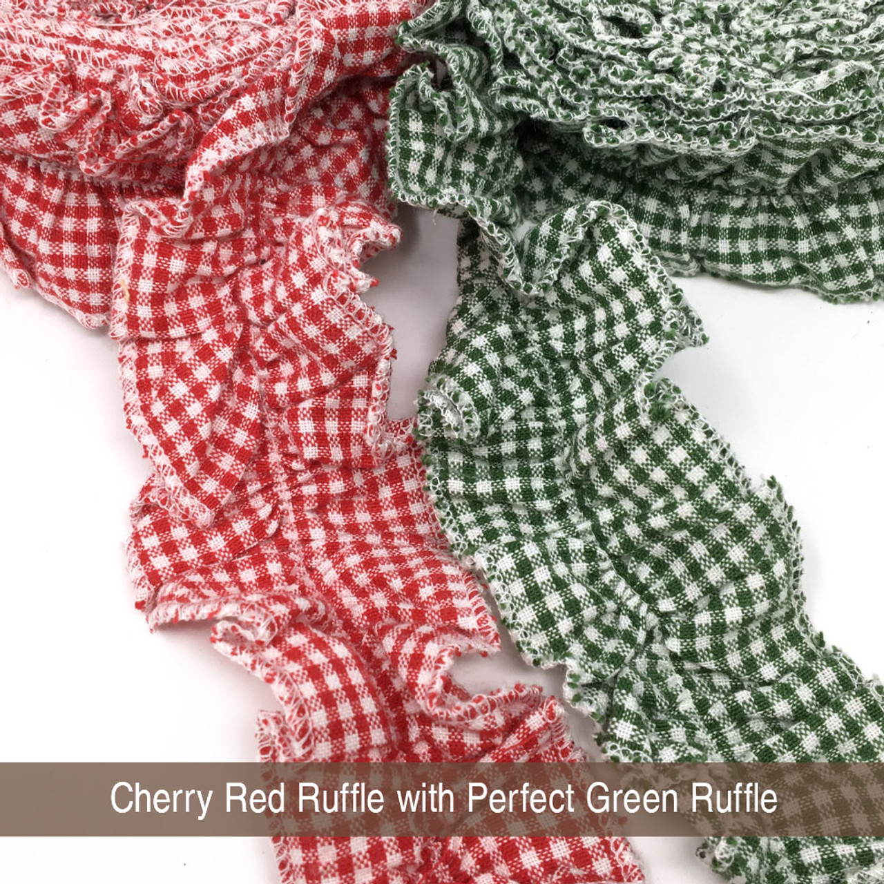 Cherry Red 2 Ruffled Trim/Garland  - 1 roll - 144 inches (12 feet)