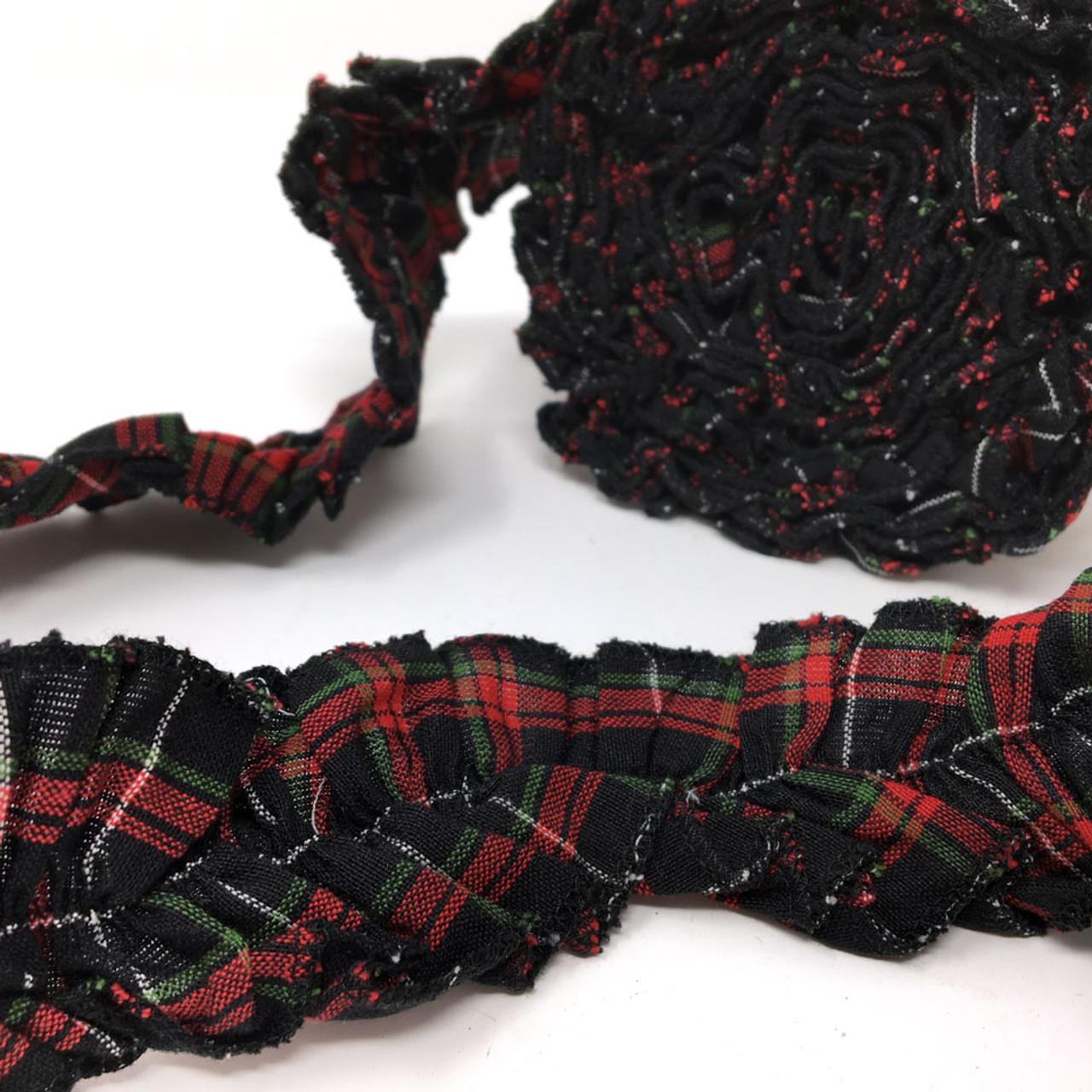 Holiday Hearth 6 Tartan Ruffled Trim/Garland  - 1 roll - 144 inches (12 feet)