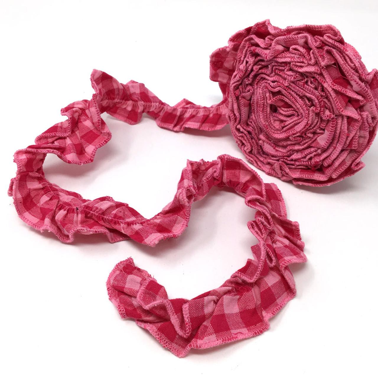 Strawberry Pink 5 Ruffled Trim/Garland  - 1 roll - 144 inches (12 feet)