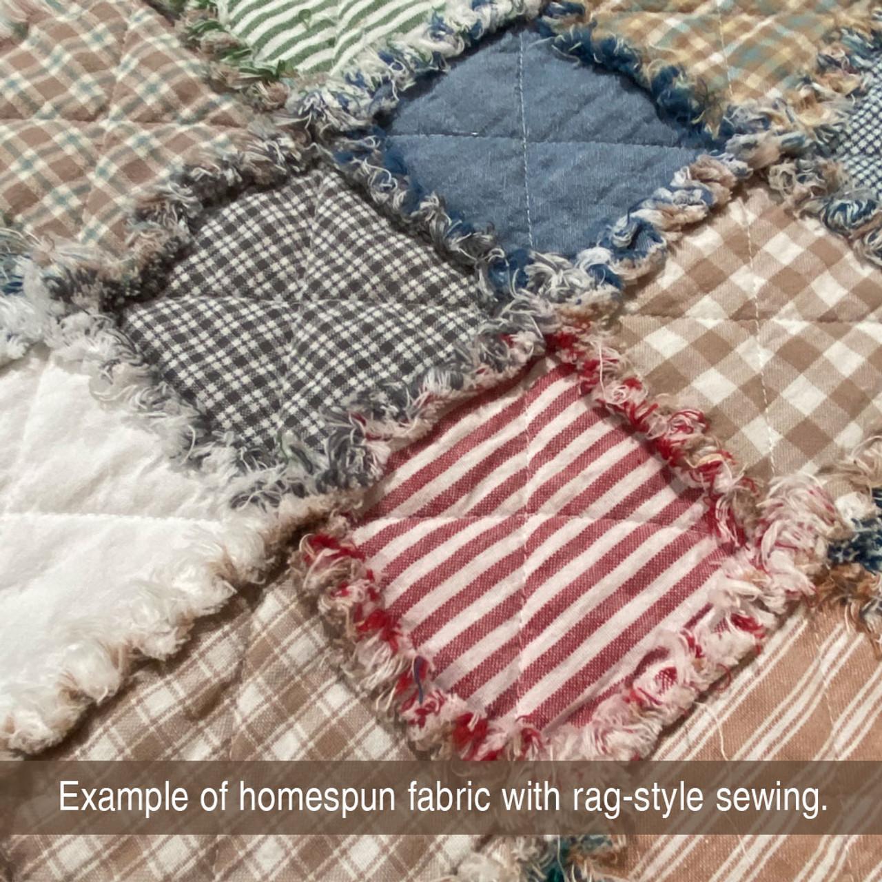 Red Candy Stripe Homespun Cotton Fabric