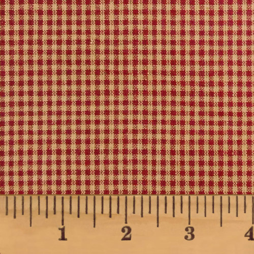 Primitive Red 2 Homespun Cotton Fabric