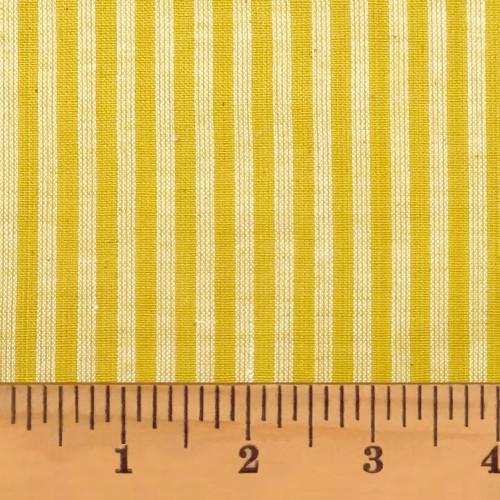 Summer Yellow Stripe Homespun Cotton Fabric