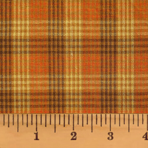 Autumn Pin Plaid Homespun Cotton Fabric