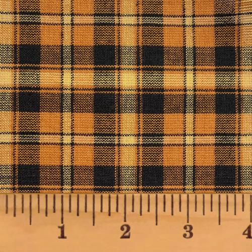 Mustard Seed Plaid Homespun Cotton Fabric