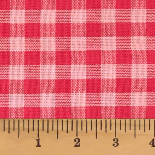 Strawberry Pink 5 Mini Buffalo Homespun Cotton Fabric