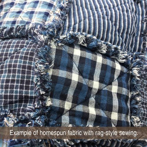 Twilight 4 Blue & Gray Plaid Homespun Cotton Fabric