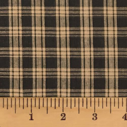 Primitive Black 4 Homespun Cotton Fabric