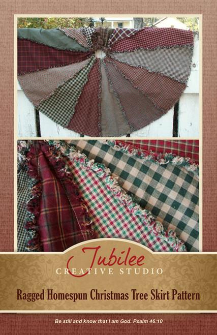 Ragged Christmas Tree Skirt Pattern - Printed