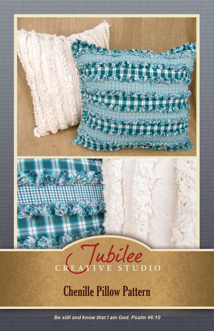 Chenille Ragged Pillow Pattern - Forever Free - Digital