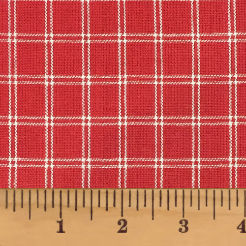 Cherry Red 4 Homespun Cotton Fabric