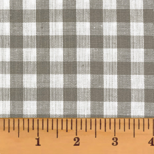 Magnolia Gray Mini Buffalo Homespun Cotton Fabric