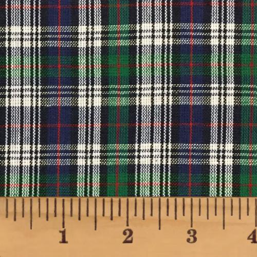 Sullivan Blue Tartan Plaid Homespun Cotton Fabric