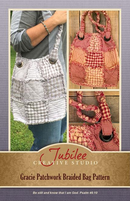 Gracie Patchwork Braided Bag Pattern - DIGITAL