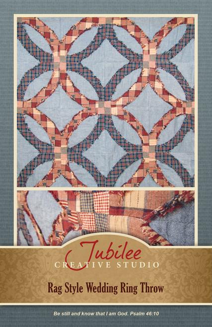 Rag Style Wedding Ring Throw Pattern - DIGITAL