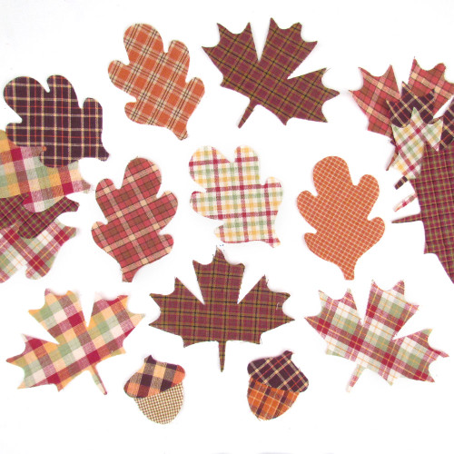 Autumn Leaf and Acorn Homespun Cut Outs
