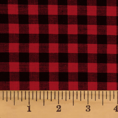 Red & Black Mini Buffalo Check Homespun Cotton Fabric