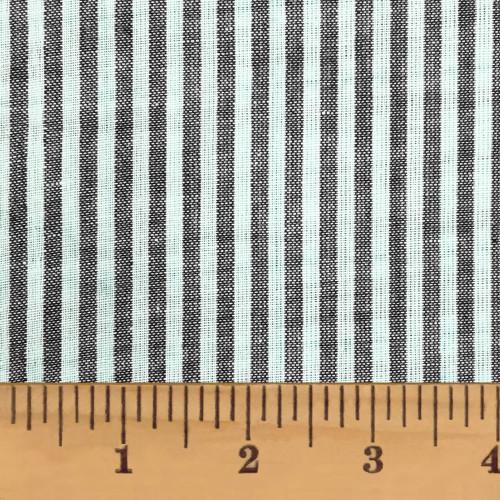 Mountain Lodge Gray Thin Stripe Homespun Cotton Fabric