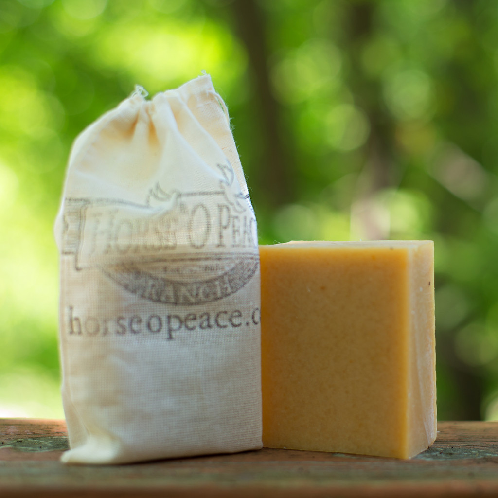 Handmade Goat Milk Soap 100% Raw | Patchouli Triple Scent Goat Milk Soap | Horse O Peace