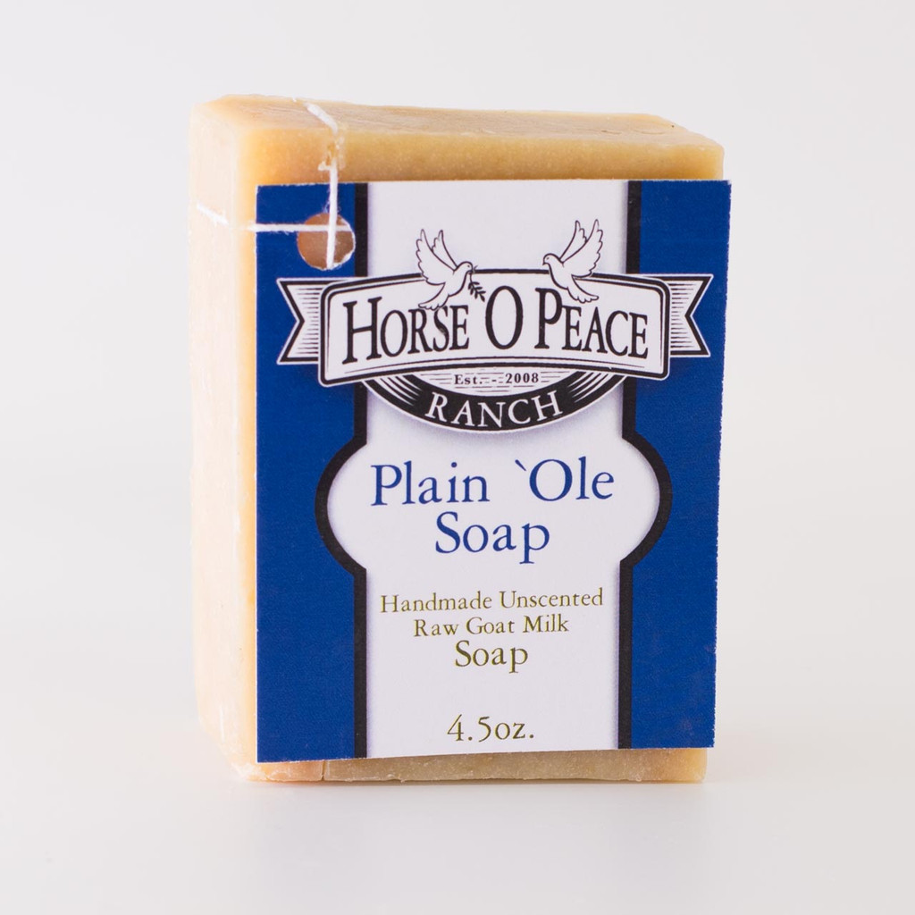 Handmade Goat Milk Soap 100% Raw | Plain 'Ole Soap Goat Milk Soap | Horse O Peace