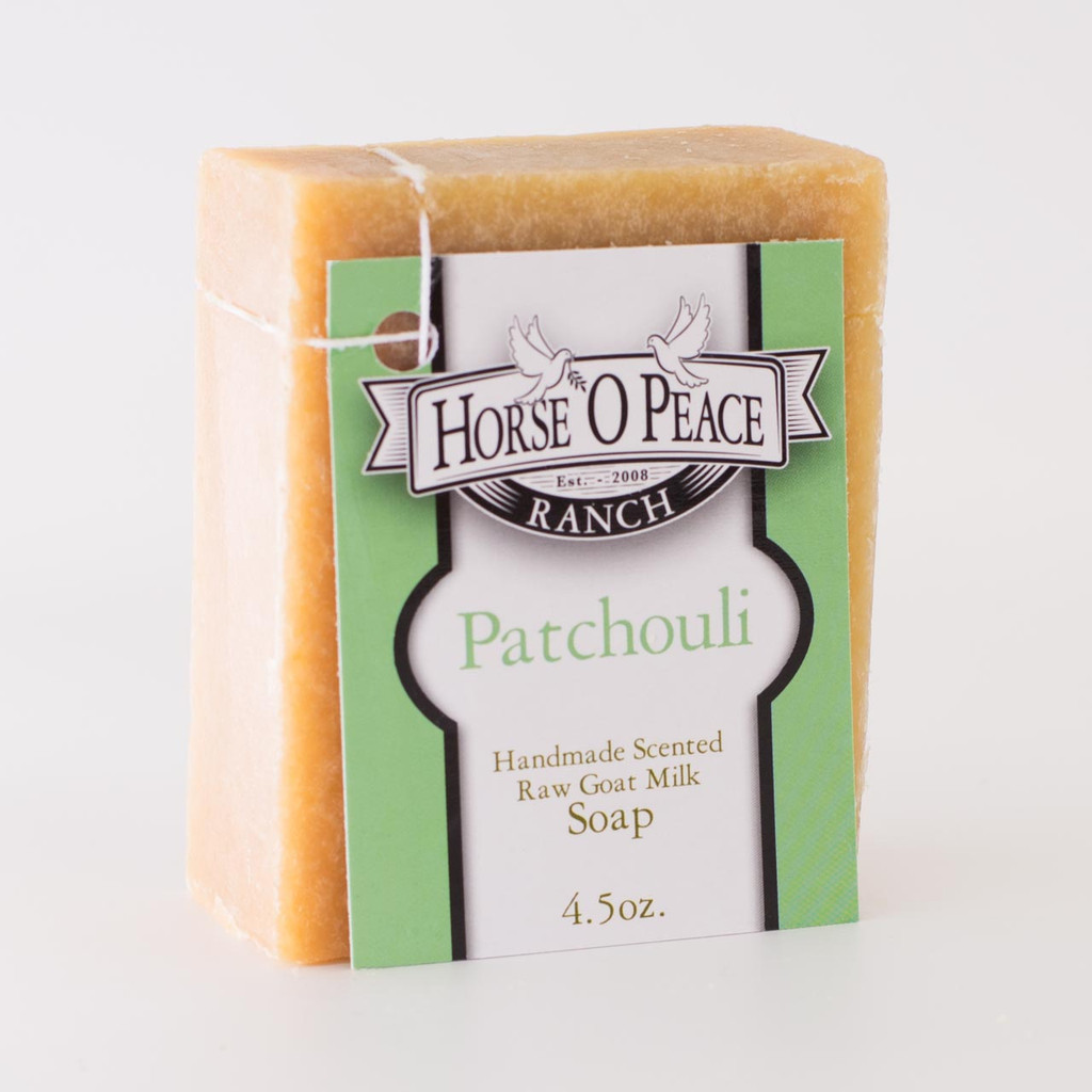Handmade Goat Milk Soap 100% Raw | Patchouli Goat Milk Soap | Horse O Peace