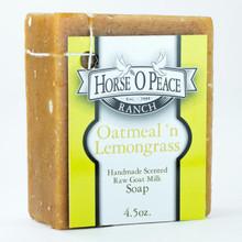 Handmade Goat Milk Soap 100% Raw | Oatmeal and Lemongrass Goat Milk Soap | Horse O Peace