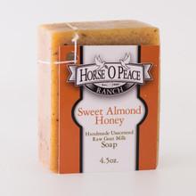Handmade Goat Milk Soap 100% Raw | Sweet Almond Honey Goat Milk Soap | Horse O Peace