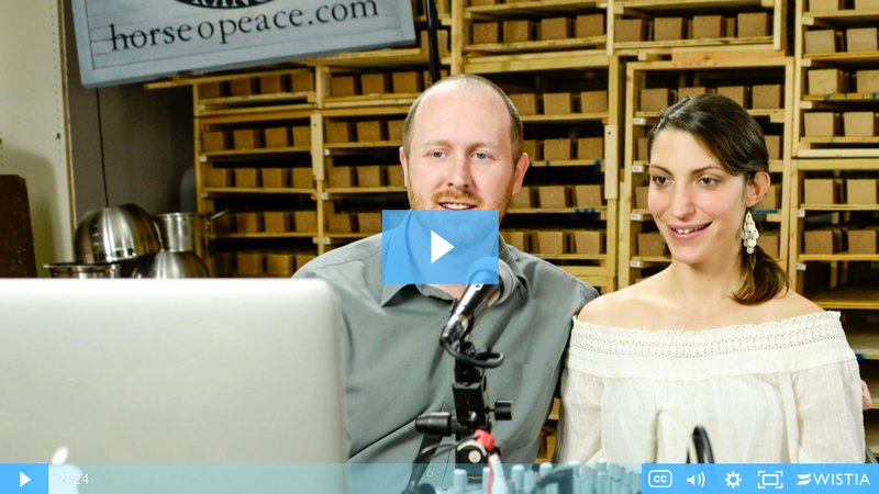 Elizabeth & Nick Sanders of HorseOPeace.com on the Radio Show broadcast by PWRN iHeart