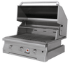 Solaire 36 Inch Grill, Built In, Front View, Hood Up, AGBQ