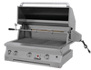 Solaire 36 Inch Grill, Built In, Front View, Hood Up, Rotisserie, AGBQ