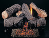 "18"" Evening Embers by Rasmussen Gas Logs, Bark side of logs showing"
