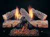 "24"" Evening Embers by Rasmussen Gas Logs, Split side of logs showing"