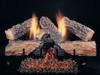 """24"""" Evening Embers by Rasmussen Gas Logs, Split side of logs showing"""