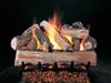 """CrossFire gas log set, 24"""" set size on FX Burner with Split side shown"""
