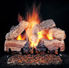 """Evening Desire Logs (shown: 24-inch set size on FX burner and 5/8"""" Grate) by Rasmussen Gas Logs"""