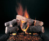"""Evening Lone Star Logs (shown in 24-inch set size with FX burner and 5/8"""" grate) by Rasmussen Gas Logs"""