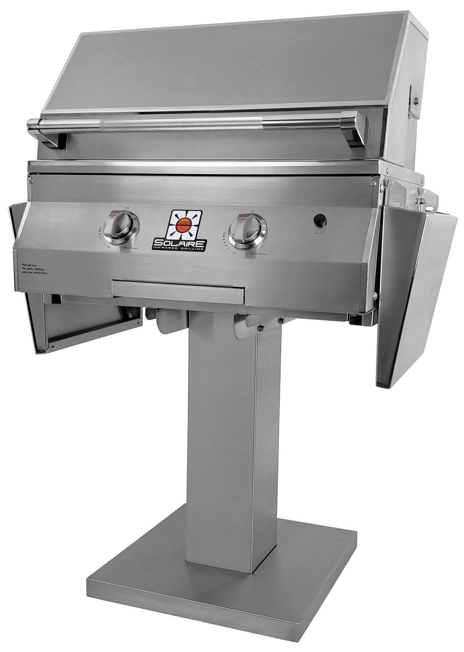 Solaire 27 Inch Grill, Bolt Down Post