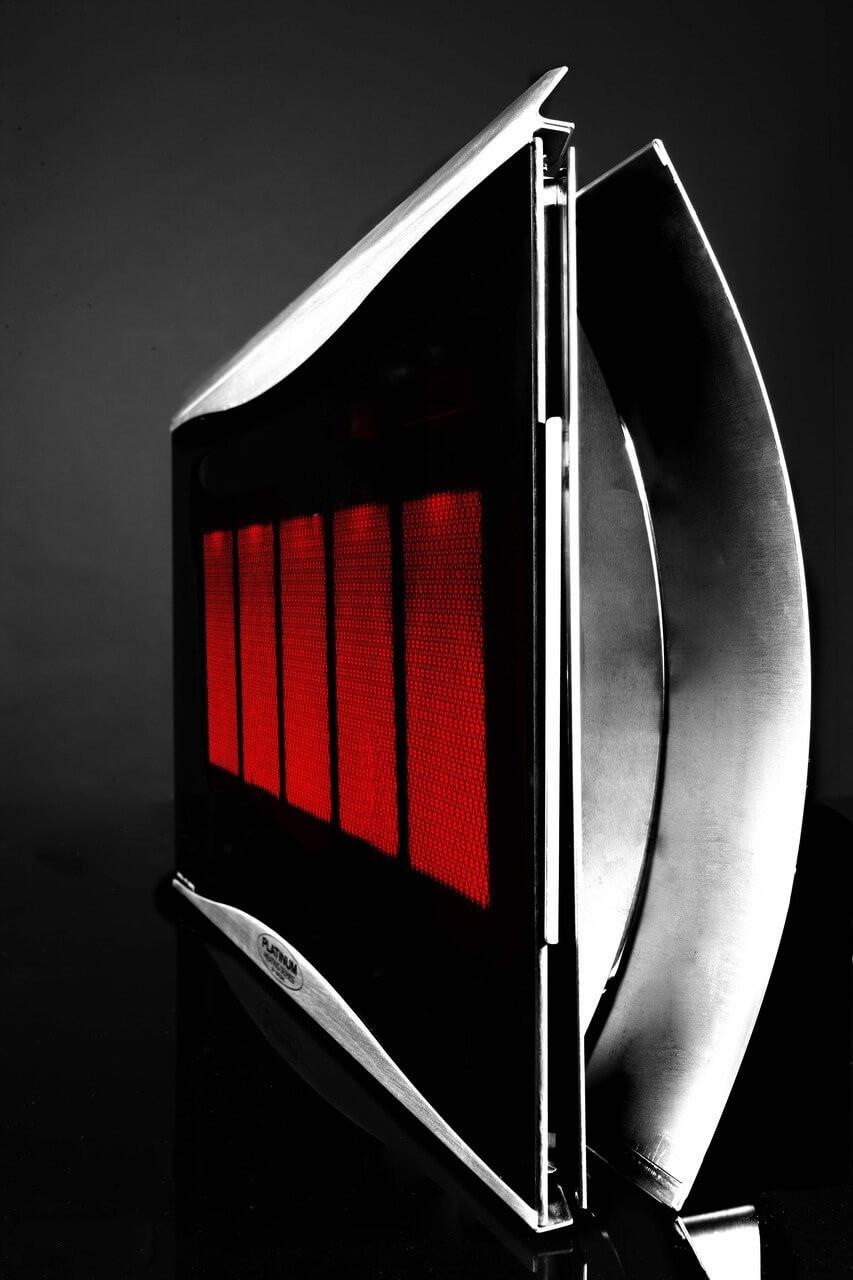 Bromic Platinum Smart-Heat 5 Burner Radiant Gas Heater, Natural Gas, Side View