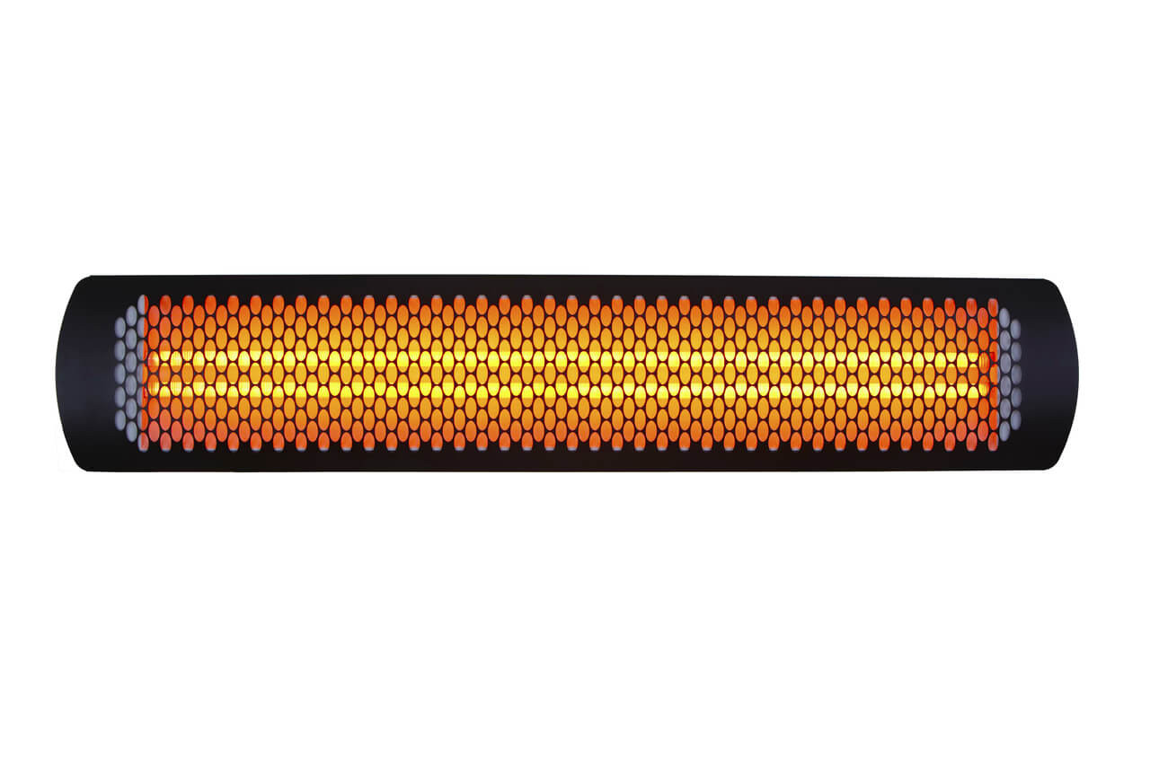 Bromic 4000 Watt Tungsten Electric Heater, Black