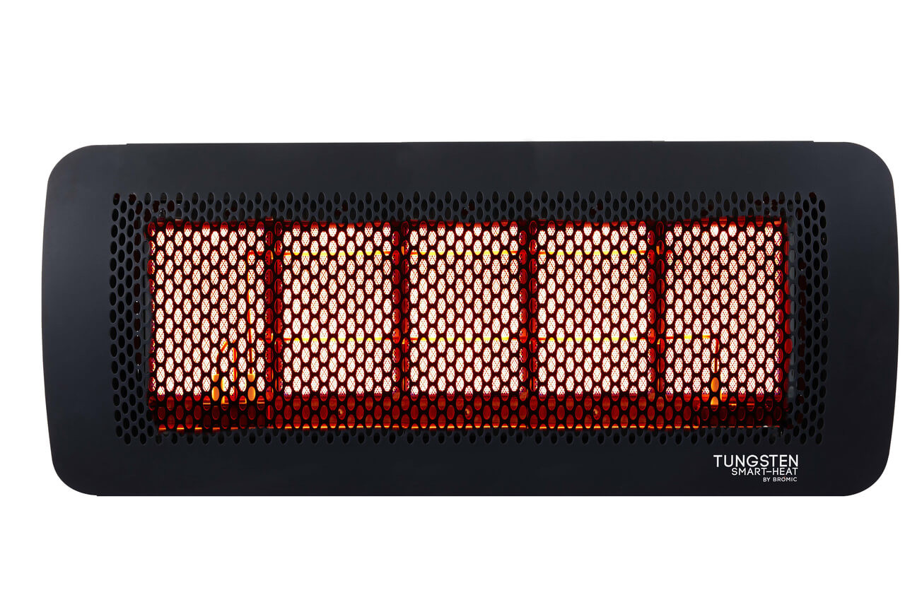 Bromic Tungsten Smart-Heat 5 Burner Radiant Gas Heater, Natural Gas, Front View