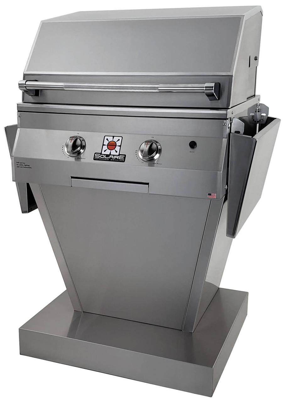 Solaire 27XL Grill, Angular Pedestal, No Rotisserie Burner, IRBQ