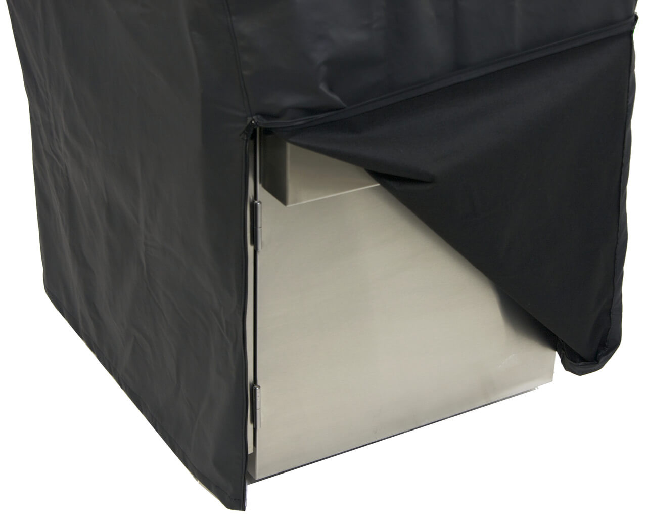 Zippered front corners