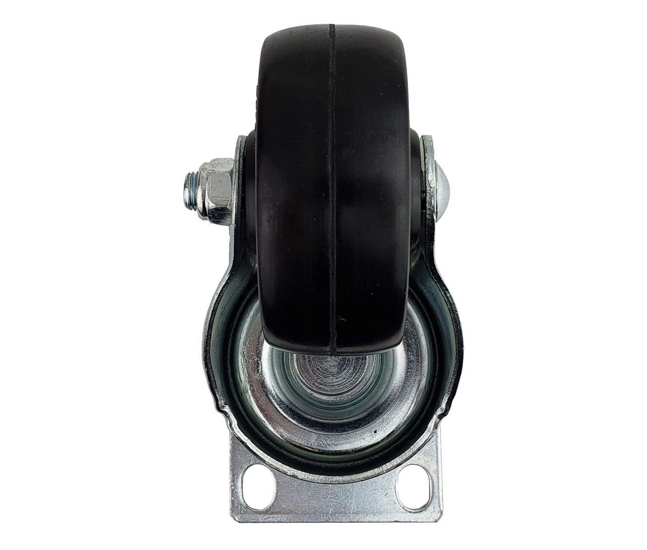 Caster, swivel without brake, Bottom View