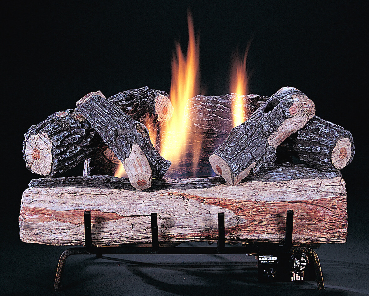 "C1 Chillbuster Split side of front log showing, 24"" size, by Rasmussen Gas Logs"