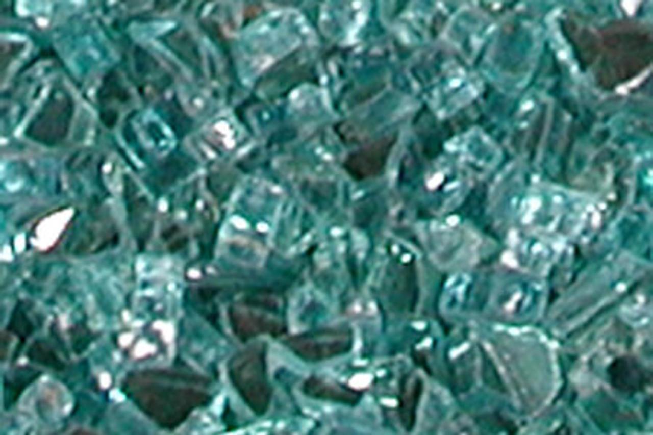 Blue-Green FireGlitter Glass